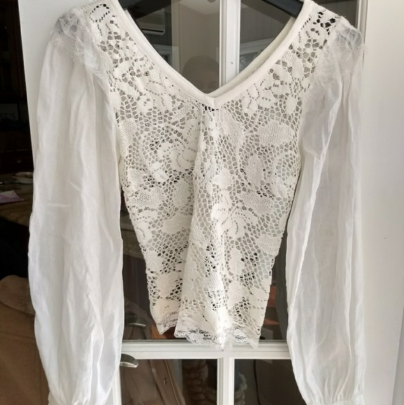 f3572fb8c D&G Tops | Dg By Dolce Gabbana Lace Peasant Top | Poshmark